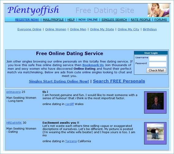 Dating site plentyoffish com