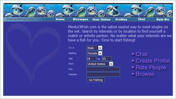 Evolution home page pof com